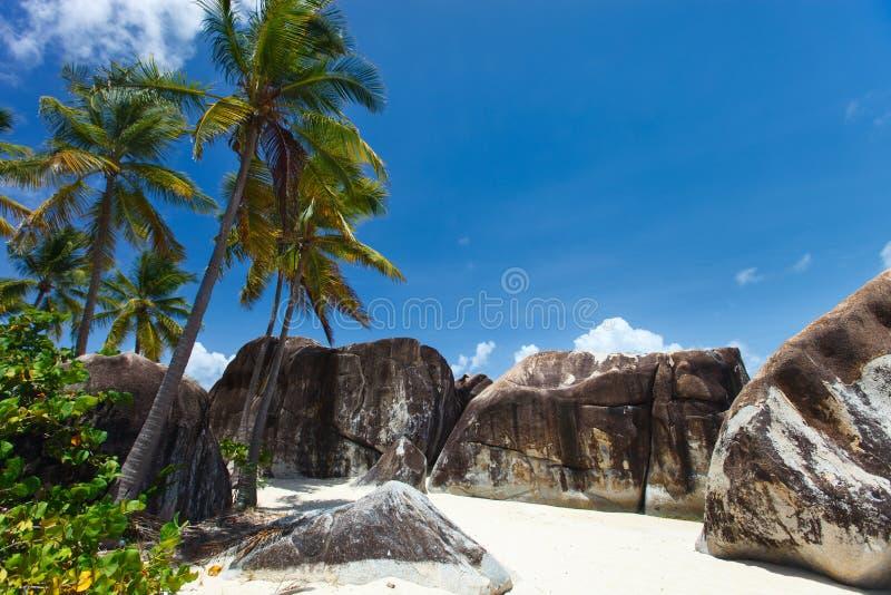 Praia impressionante nas Caraíbas imagem de stock
