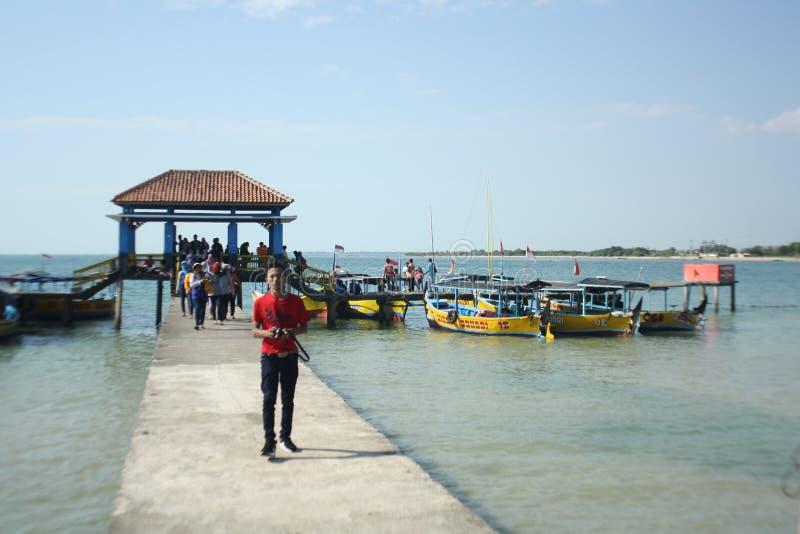 Praia indonésia imagem de stock