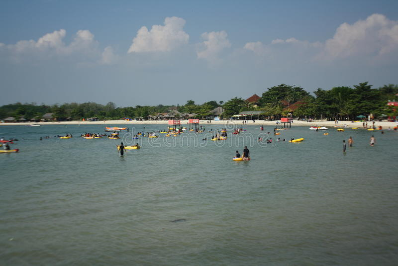 Praia indonésia foto de stock