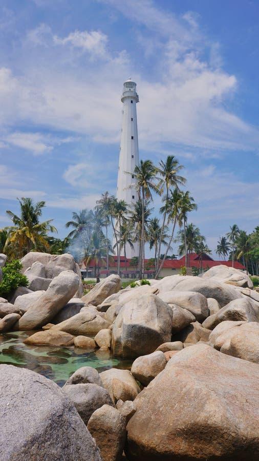 Praia Indonésia de Belitong imagens de stock royalty free
