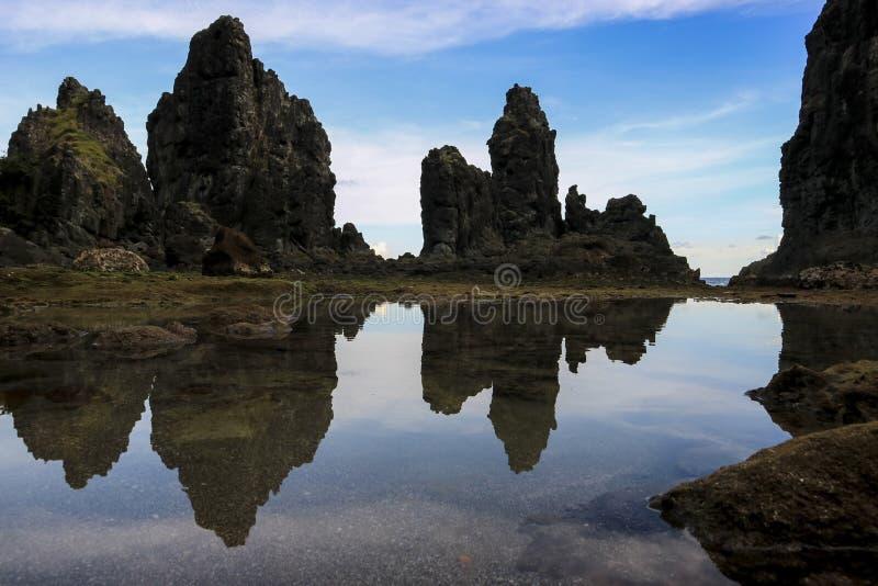 Praia Indonésia de Pengempos foto de stock