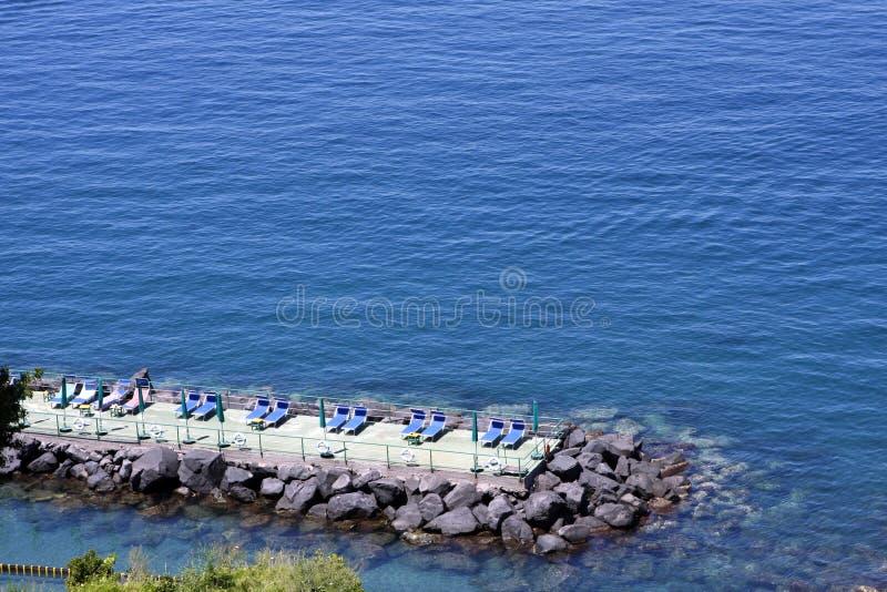 Praia Itália de Sorrento fotos de stock royalty free