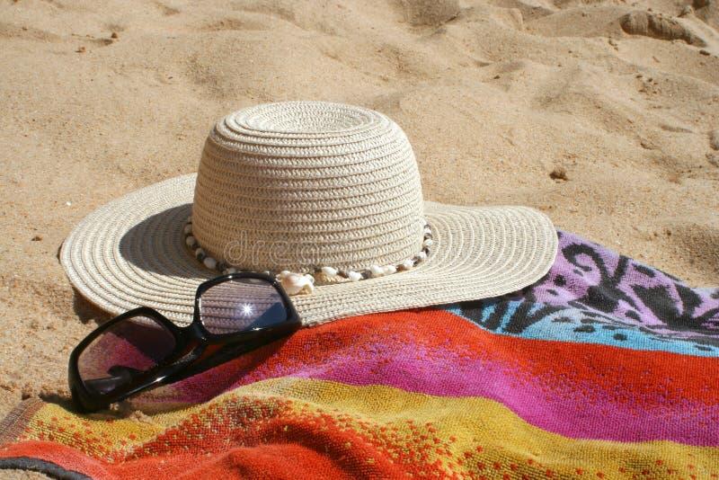 Praia items2 imagens de stock royalty free