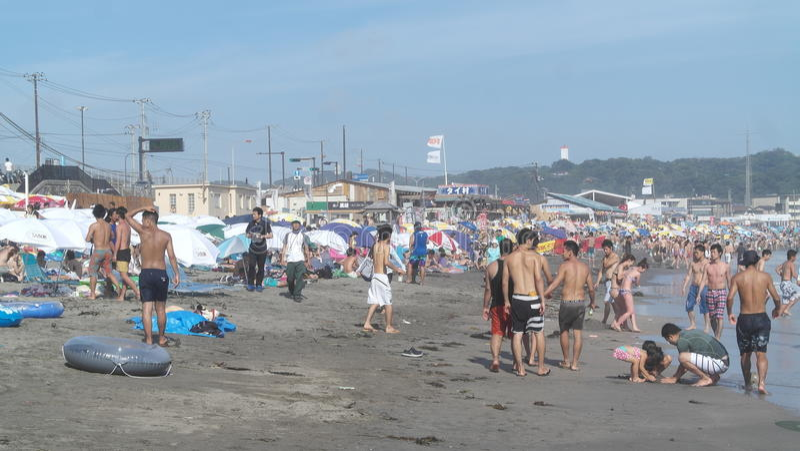Praia japonesa imagens de stock