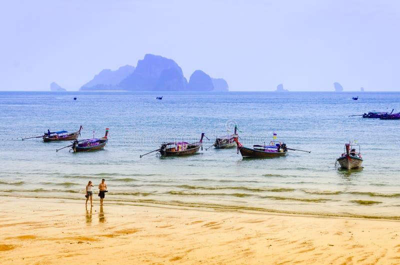 Praia Krabi Tailândia do Ao Nang fotografia de stock