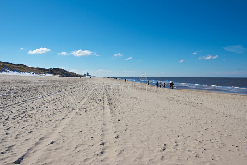 Praia larga de Sylt fotografia de stock royalty free