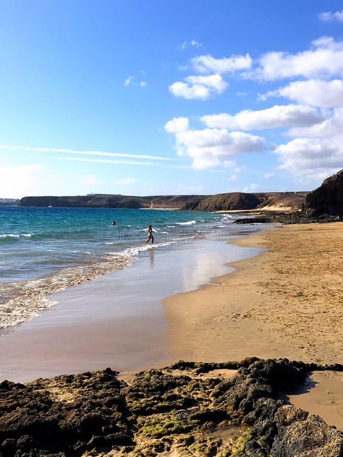 Praia lindo de Lanzarote imagens de stock royalty free
