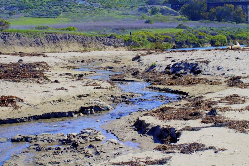 Praia Lompoc Califórnia de Jalama do rio foto de stock