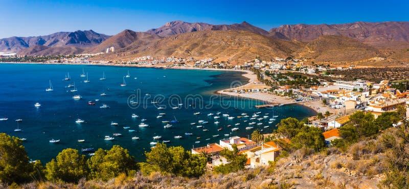 Praia Múrcia de Azohia do La na Espanha do mar Mediterrâneo fotos de stock royalty free