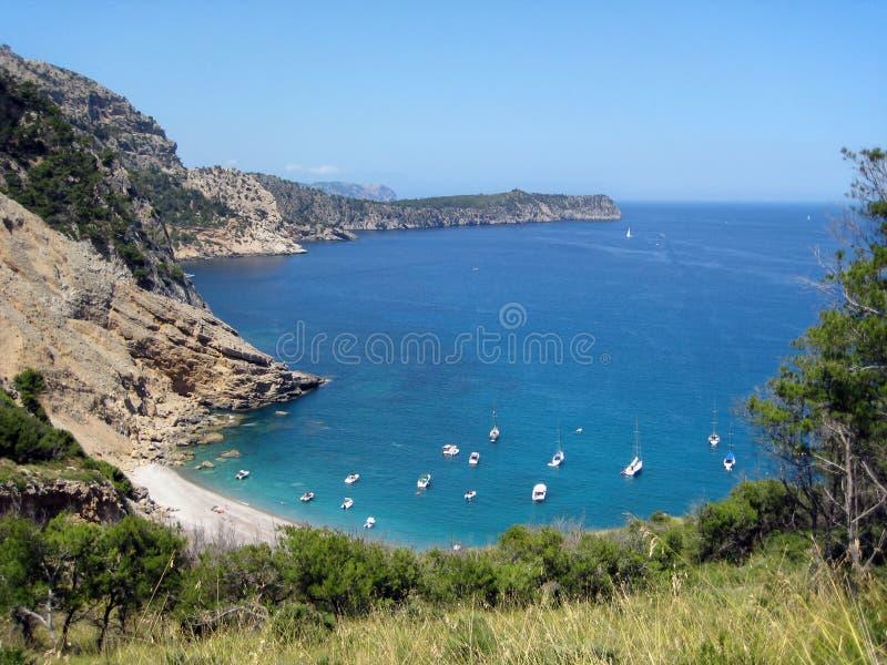 Praia Majorca do coll do Es imagens de stock