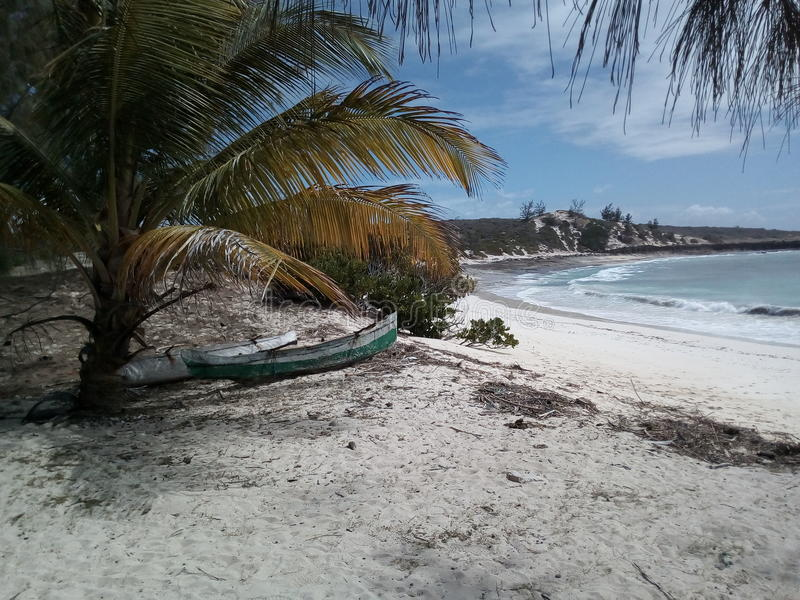 Praia malgaxe de Sakalava foto de stock