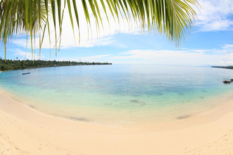 Praia Manokwari Papua de Pasir Putih foto de stock royalty free