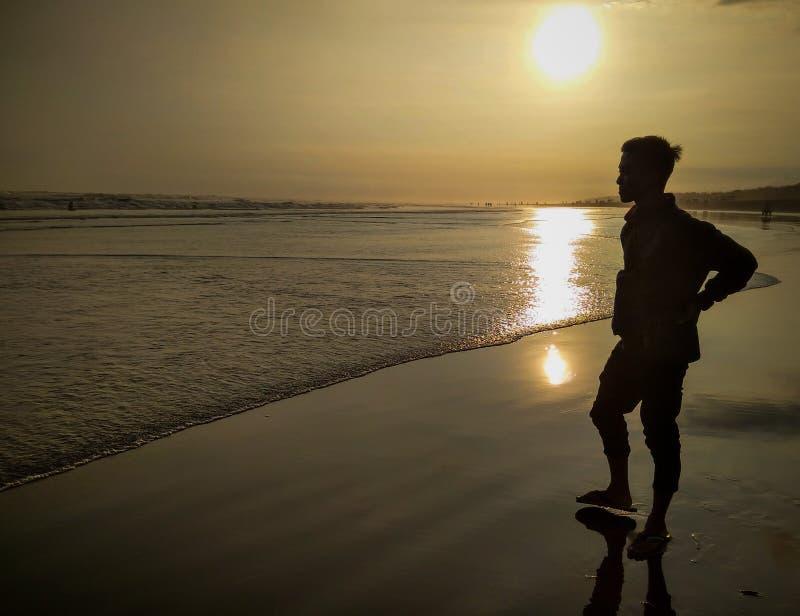 Praia maravilhosa em Parangtritis fotografia de stock royalty free