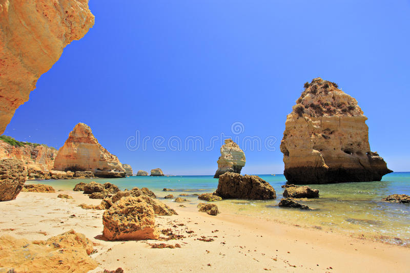 praia marinha da пляжа algarve стоковое фото rf
