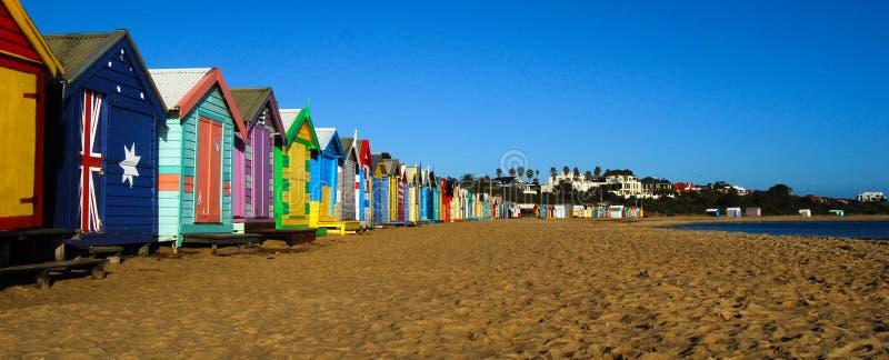 Praia Melbourne Austrália de Brigghton fotografia de stock