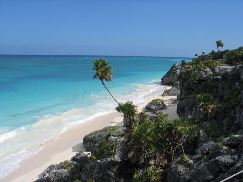 Praia mexicana fotografia de stock royalty free