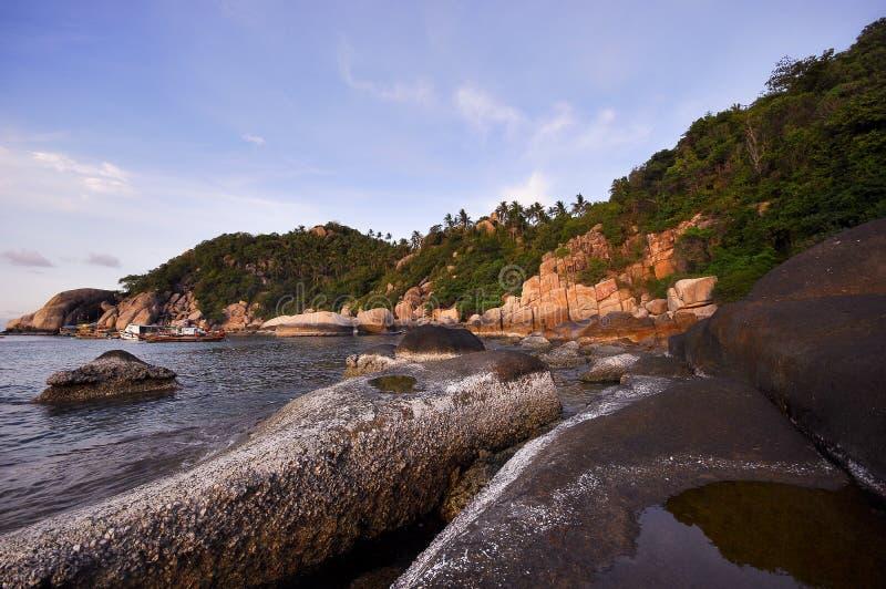 Praia misteriosa foto de stock royalty free