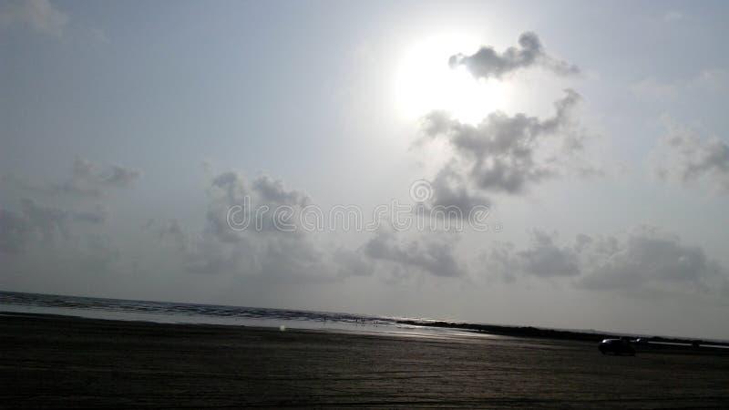 Praia Mumbai de Gorai imagens de stock royalty free