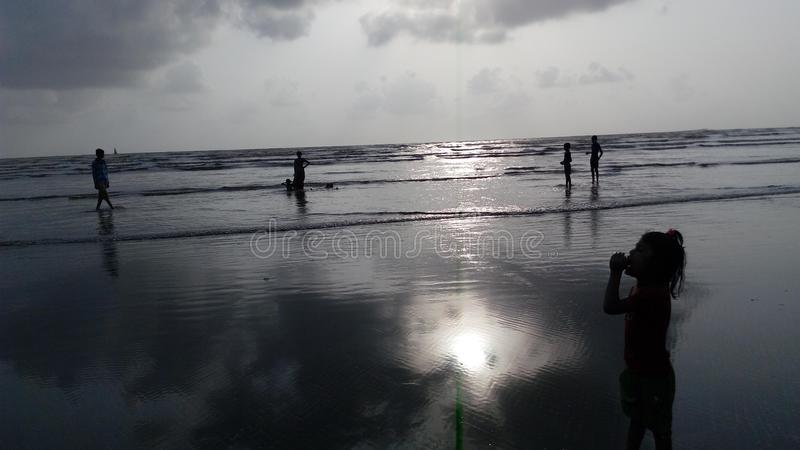 Praia Mumbai de Gorai imagem de stock royalty free