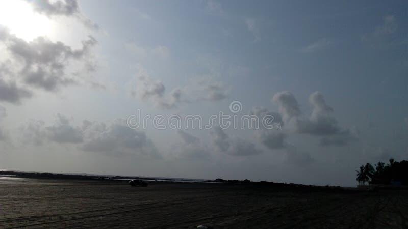 Praia Mumbai de Gorai foto de stock