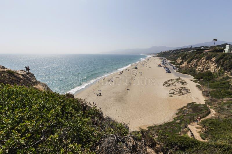 Praia na direção ocidental em Malibu Califórnia imagem de stock royalty free