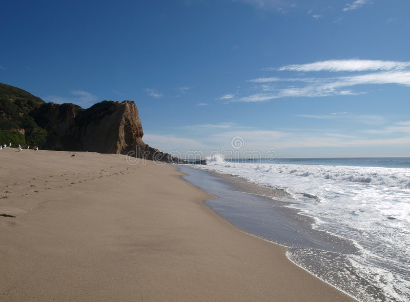 Praia na direcção ocidental imagem de stock royalty free