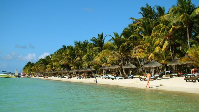 Praia na ilha de Maurícias fotos de stock