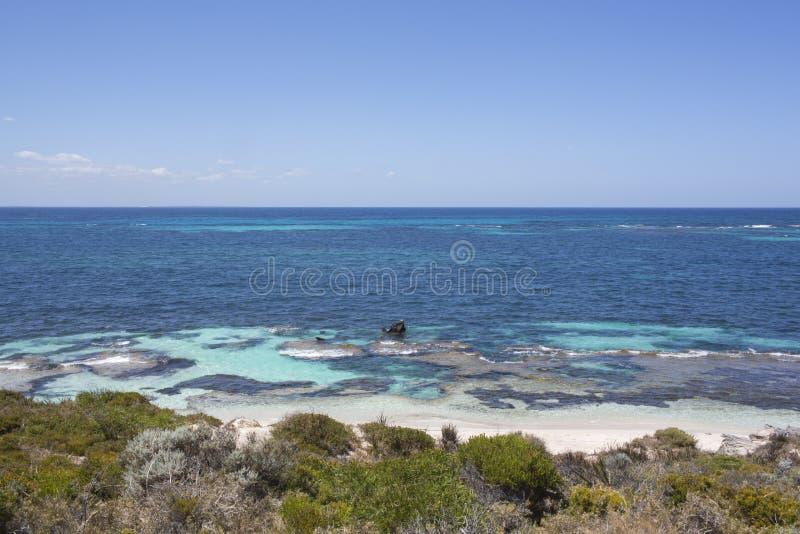 Praia na ilha de Rottnest, Austrália Ocidental, Austrália fotos de stock