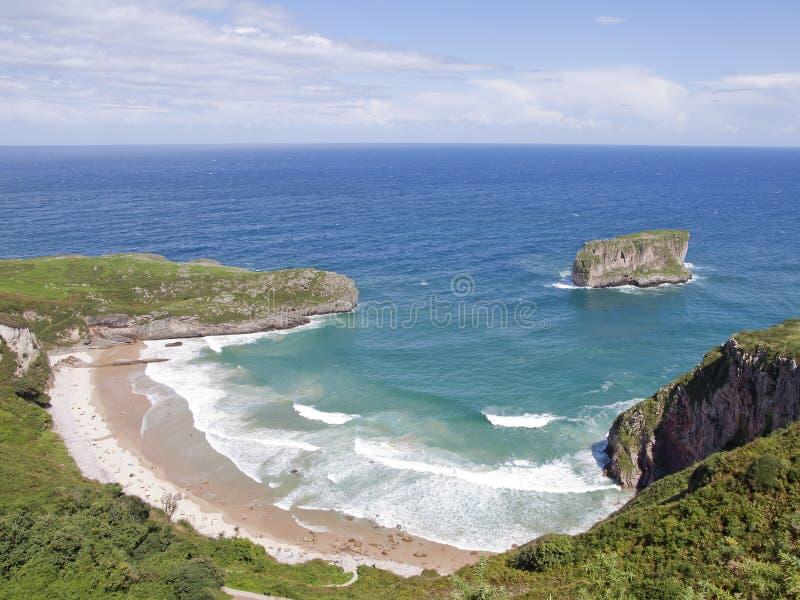 Praia nas Astúrias, Spain imagem de stock