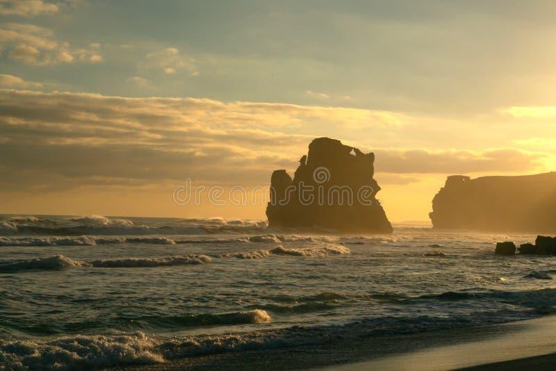 A praia nas etapas de Gibson imagens de stock royalty free