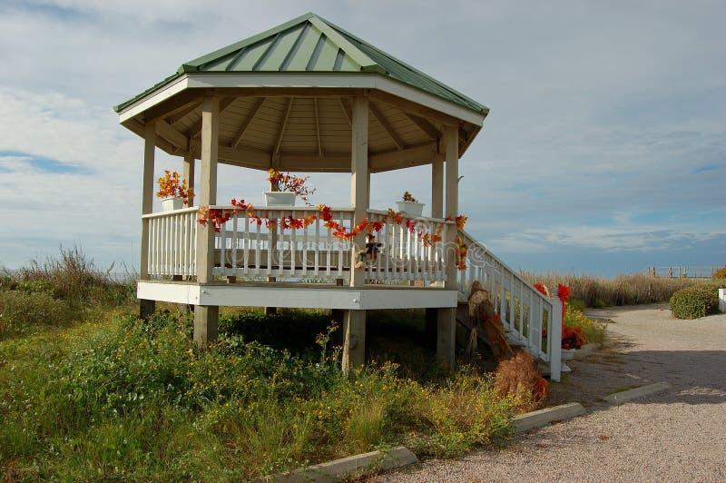 Praia NC de Holden do Gazebo da praia fotos de stock royalty free