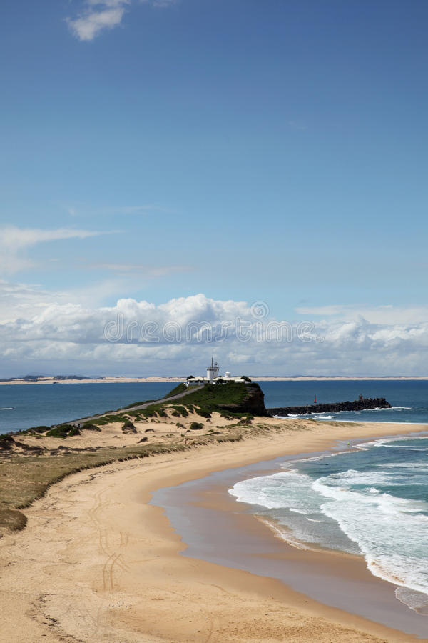 Praia Newcastle Austrália de Nobbys imagem de stock royalty free
