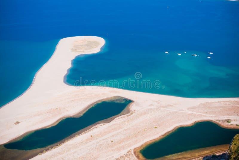 Praia no Capo Tindari, Sicília fotos de stock royalty free