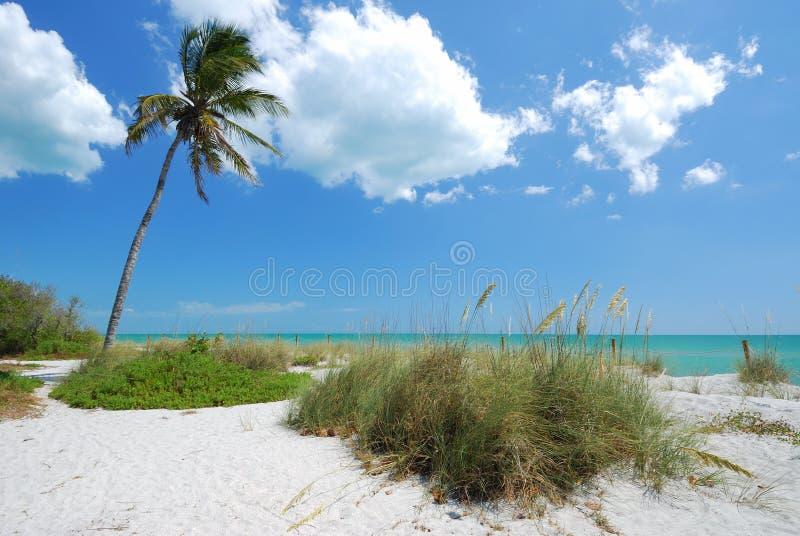 Praia no console de Captiva foto de stock
