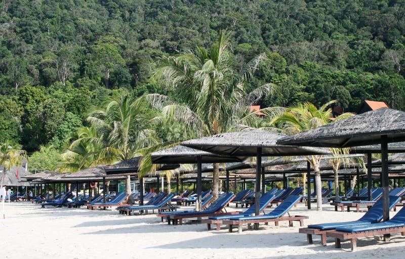 Praia no console de Langkawi imagens de stock royalty free