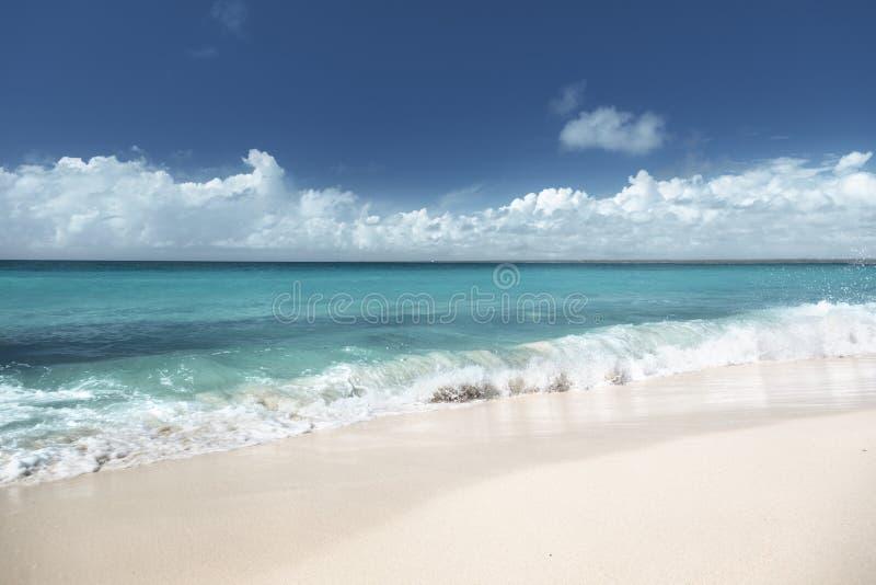 Praia no Dominican da ilha de Catalina fotos de stock