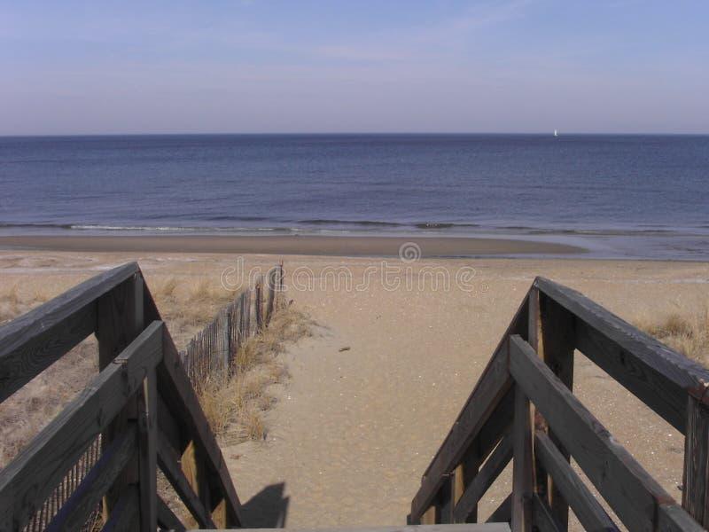 Praia no louro de Chesapeake foto de stock royalty free
