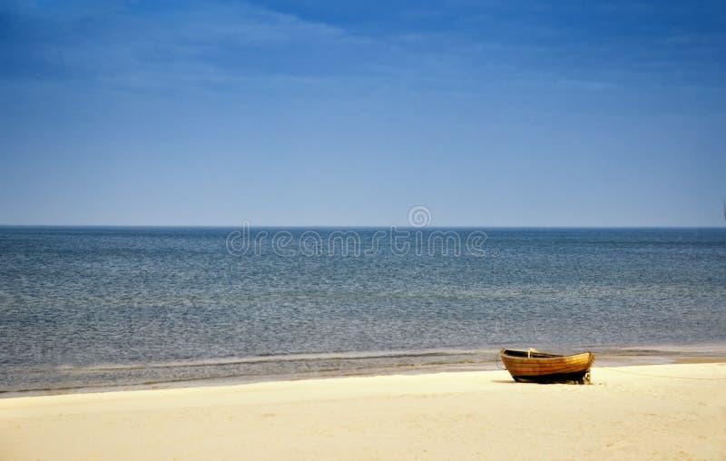 Praia no mar Báltico imagem de stock