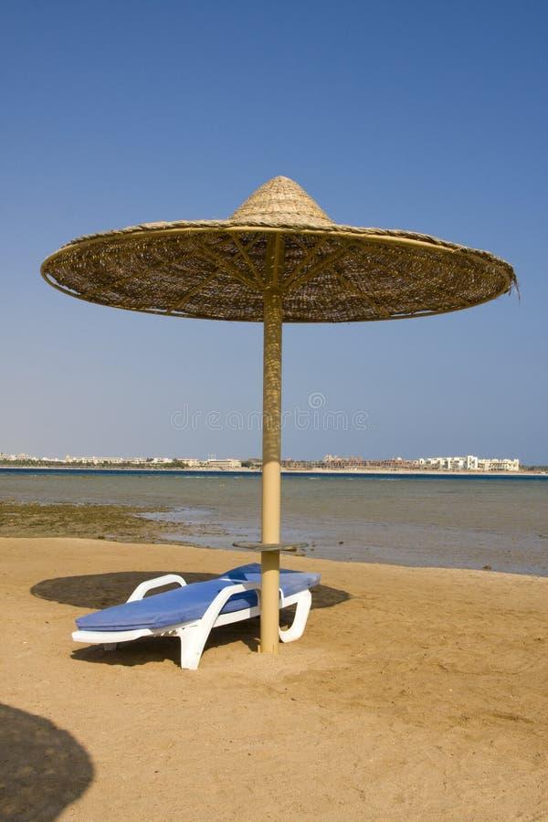 Praia no Mar Vermelho, Hurghada, Egipto imagens de stock royalty free