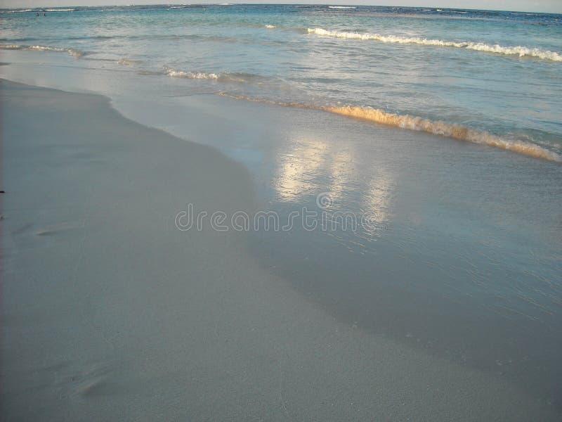Praia no por do sol, Vieques, Porto Rico fotografia de stock royalty free