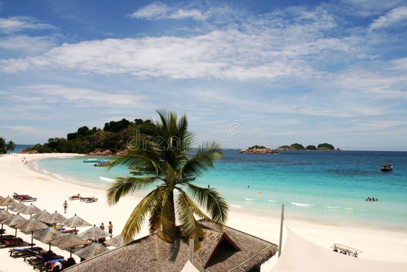 Praia no Pulau Redang, Malásia foto de stock