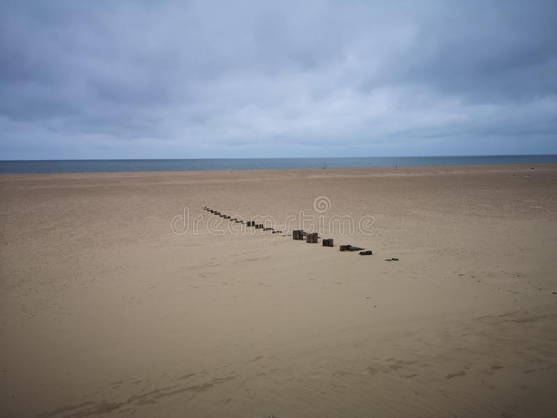 Praia Norfolk de Gorleston fotos de stock