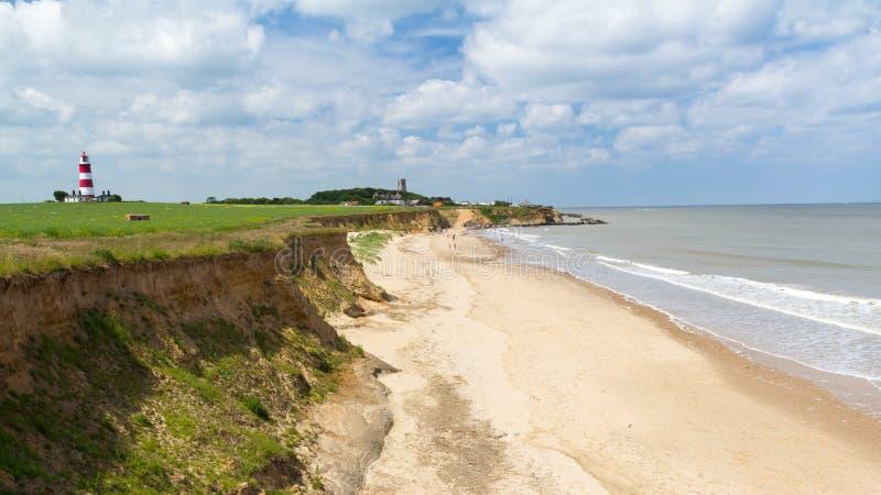 Praia Norfolk Inglaterra de Happisburgh imagem de stock royalty free