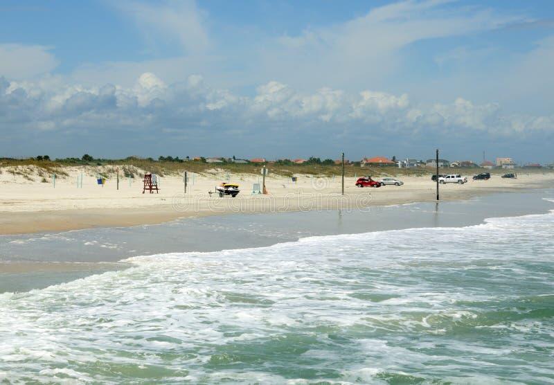 Praia nova de Smyrna fotografia de stock