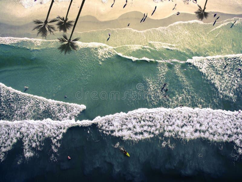 Praia nova de Smyrna da vista superior foto de stock