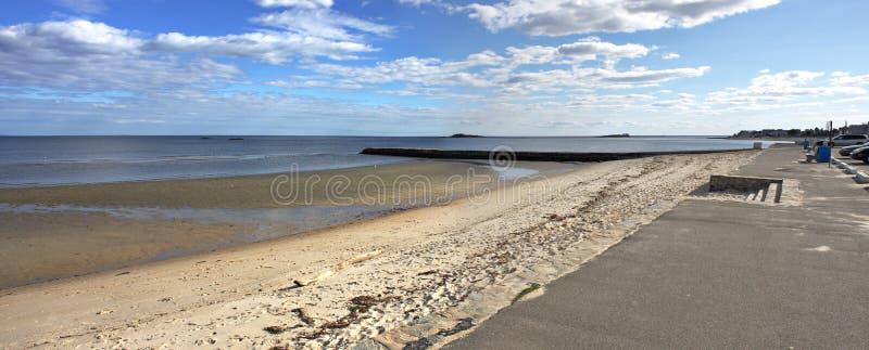 Praia ocidental no Westbrook Connecticut fotos de stock