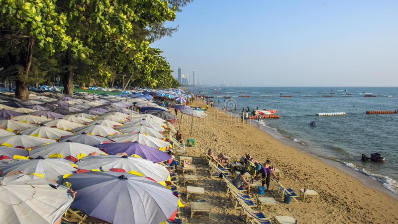Praia Pattaya de Jomtien fotos de stock royalty free