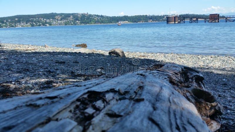 Praia pela baía foto de stock royalty free