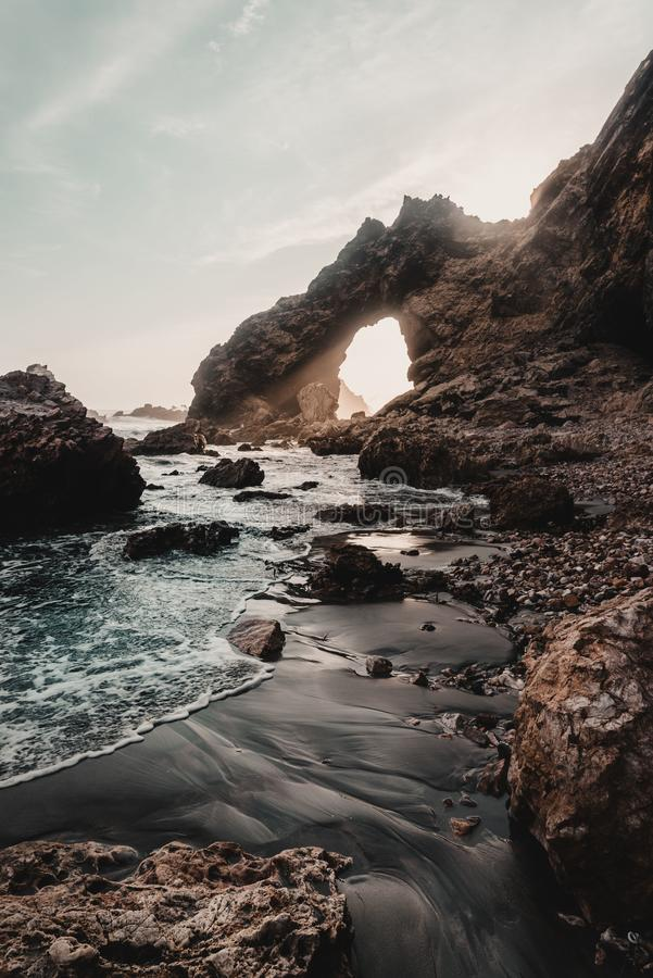 Praia Perú do AIC fotografia de stock