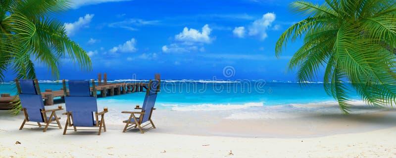 Praia perfeita ilustração royalty free